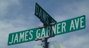James Garner street sign