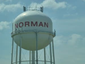 a norman water tower